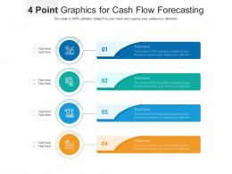 4 Point Graphics For Cash Flow Forecasting Infographic Template