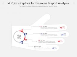 4 Point Graphics For Financial Report Analysis Infographic Template