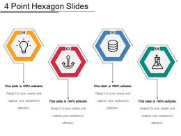4 Point Hexagon Slides Sample Of PPT