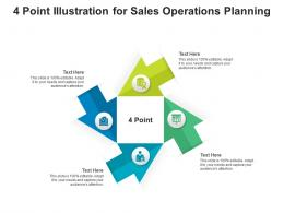 4 Point Illustration For Sales Operations Planning Infographic Template