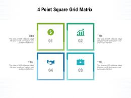 4 Point Square Grid Matrix
