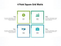 4 Point Square Grid Matrix