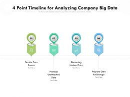 4 Point Timeline For Analyzing Company Big Data