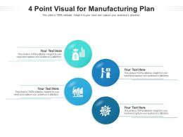 4 Point Visual For Manufacturing Plan Infographic Template