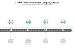 4 Point Yearly Timeline For Company Growth