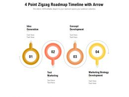4 Point Zigzag Roadmap Timeline With Arrow