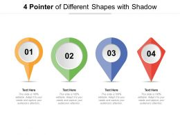 4 Pointer Of Different Shapes With Shadow