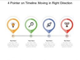 4 Pointer On Timeline Moving In Right Direction