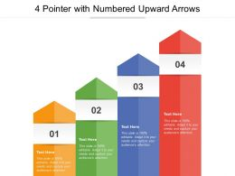 4 Pointer With Numbered Upward Arrows