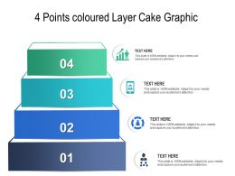 4 Points Coloured Layer Cake Graphic