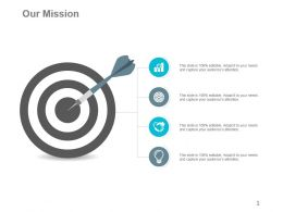 4 Points For Our Mission Shown By Icons Ppt Slides