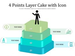 4 Points Layer Cake With Icon