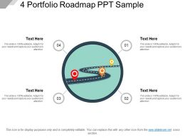 4 Portfolio Roadmap Ppt Sample