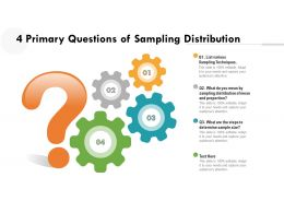 4 Primary Questions Of Sampling Distribution