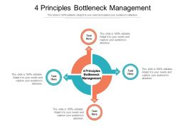 4 Principles Bottleneck Management Ppt Powerpoint Presentation Outline File Formats Cpb