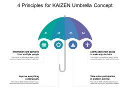 4 Principles For Kaizen Umbrella Concept