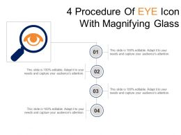 4 Procedure Of Eye Icon With Magnifying Glass