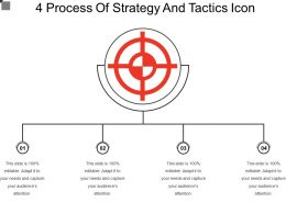 4 Process Of Strategy And Tactics Icon
