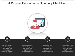 4 Process Performance Summary Chart Icon Powerpoint Guide