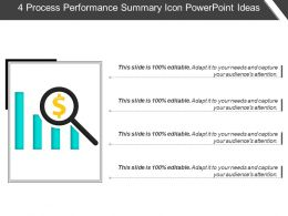 4 Process Performance Summary Icon Powerpoint Ideas