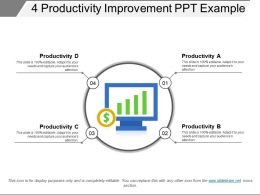 4 Productivity Improvement Ppt Example