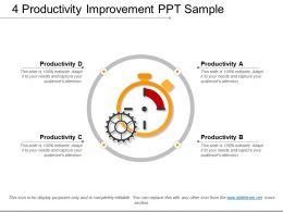 4 Productivity Improvement Ppt Sample