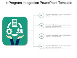 4 Program Integration Powerpoint Template