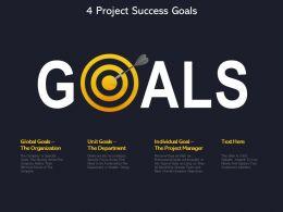 4 Project Success Goals