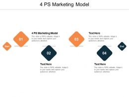 4 PS Marketing Model Ppt Powerpoint Presentation Outline Picture Cpb