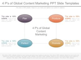 4 Ps Of Global Content Marketing Ppt Slide Templates
