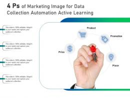 4 Ps Of Marketing Image For Data Collection Automation Active Learning Infographic Template