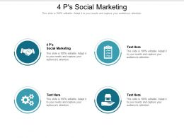 4 Ps Social Marketing Ppt Powerpoint Presentation Ideas Background Images Cpb