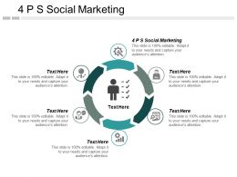 4 PS Social Marketing Ppt Powerpoint Presentation Infographics Objects Cpb