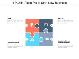 4 Puzzle Piece Pie To Start New Business