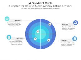 4 Quadrant Circle Graphic For How To Make Money Offline Options Infographic Template