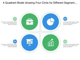 4 Quadrant Model Showing Four Circle For Different Segment With Icon