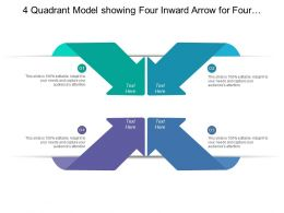 4 Quadrant Model Showing Four Inward Arrow For Four Different Category