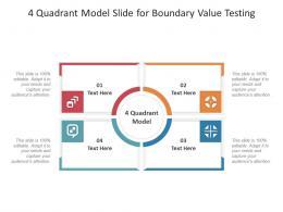 4 Quadrant Model Slide For Boundary Value Testing Infographic Template