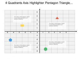 4 Quadrants Axis Highlighter Pentagon Triangle Circle And Square