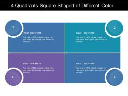 4 Quadrants Square Shaped Of Different Color