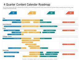 4 Quarter Content Calendar Roadmap Timeline Powerpoint Template