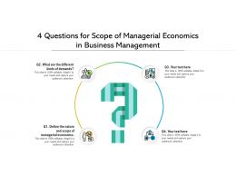 4 Questions For Scope Of Managerial Economics In Business Management