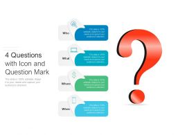 4 Questions With Icon And Question Mark