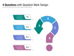 4 Questions With Question Mark Design