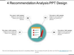 4 Recommendation Analysis Ppt Design