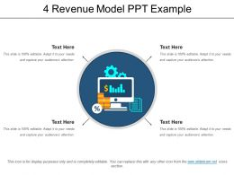 4 Revenue Model Ppt Example