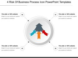 4 Risk Of Business Process Icon Powerpoint Templates