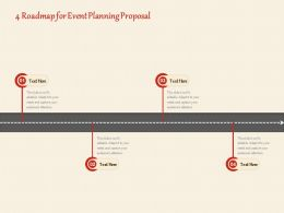4 Roadmap For Event Planning Proposal Ppt Powerpoint Presentation Summary