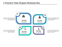 4 Scenario Petal Shaped Multisized Box