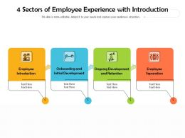 4 Sectors Of Employee Experience With Introduction